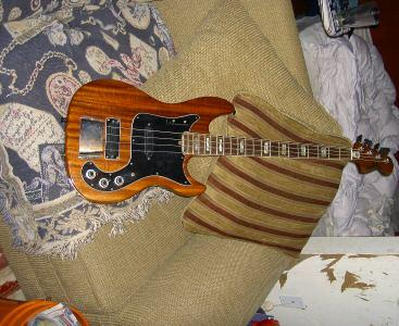 Picture of bass guitar - rare vintage 1978 hagstrom bass guitar patch 2000
