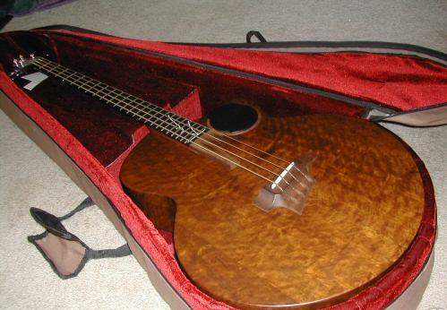 Picture of bass guitar - TAYLOR AB-2 Imbuia Acoustic Electric Bass Guitar AB2