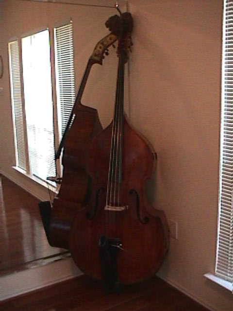 Picture of double bass (contrabass) - Lion's Head-7/8 Italian Busan copy