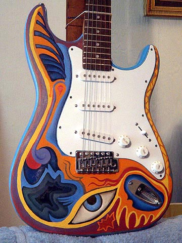 Picture of electric guitar - Rockin Robyn Custom Painted Guitars