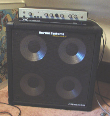 Picture of amplifier - Gallien Krueger 400RB Amp & Hartke 410 for Bass