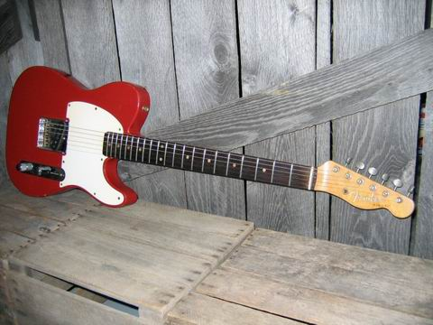 Picture of electric guitar - 1960 Dakota Red Fender Esquire Telecaster Tele