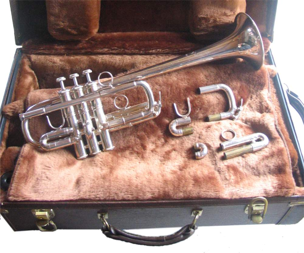 Picture of trumpet - Trumpet Bach Stradivarius D/Eb Model # 189 EL Bore 239 Bell Silver Finish