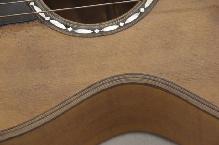Picture of acoustic guitar - 19th century guitar, restored