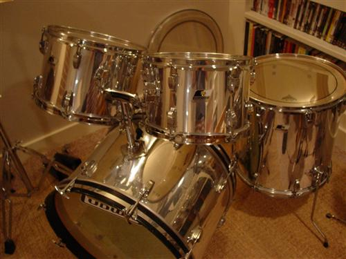 Picture of drum kit - 1975 Ludwig Rockers-4 pc. Chrome over wood!