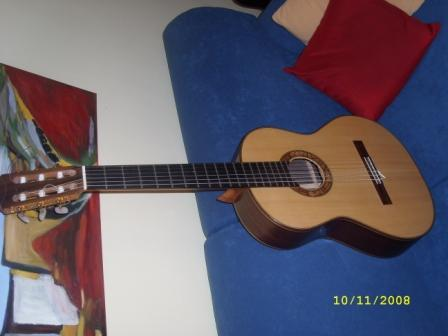 Picture of acoustic guitar - Anders Eliasson 2007 flamenco negra