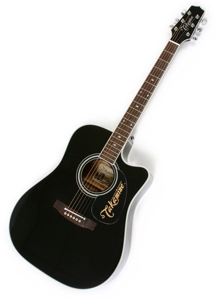 Picture of acoustic guitar - Used Takamine EF341SC Dreadnought Cutaway Acoustic-Electric Guitar 	Takamine