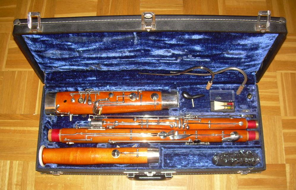 Picture of bassoon - Selmer USA Wood Bassoon, High D.E. Ready to Play.