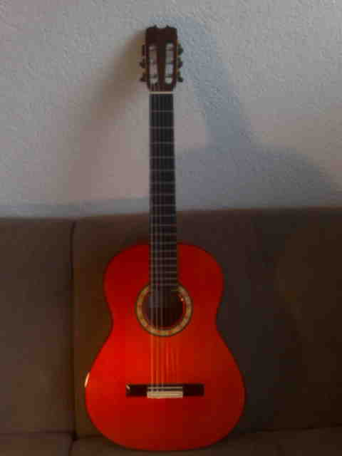 Picture of acoustic guitar - 2004 Conde Hermanos 'media luna'
