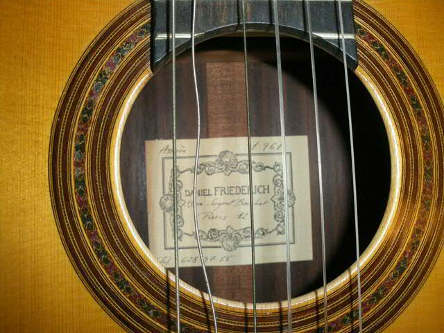 Picture of acoustic guitar - Guitar daniel Friederich 1967