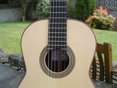 Picture of acoustic guitar - Kevin Aram Spruce Top Torres style Summer 2011
