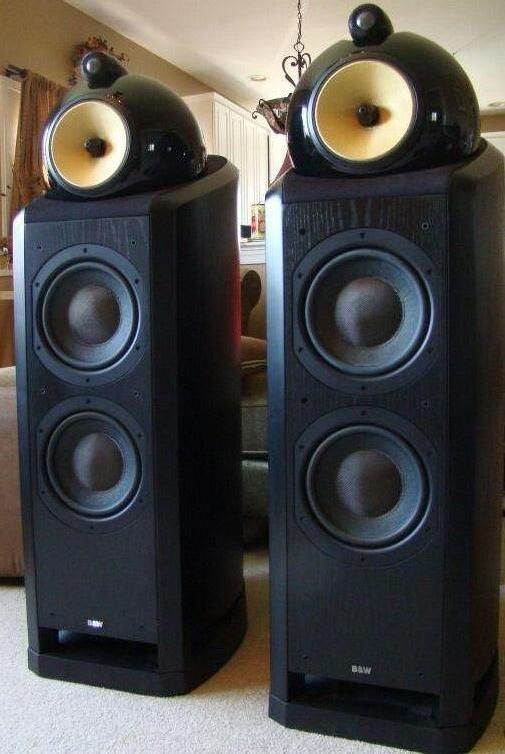 picture of speakers b w nautilus 802 speakers great cond wwarranty nr. Black Bedroom Furniture Sets. Home Design Ideas