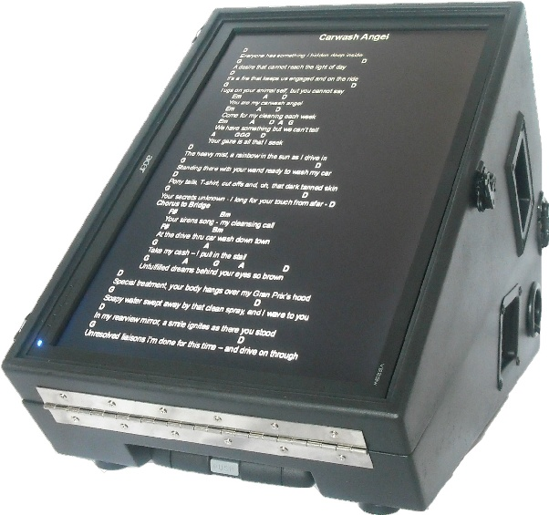 Picture of music stands, etc - Teleprompter / Telemonitor for Working Musicians