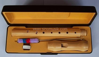 Picture of recorder (woodwind instrument) - Sinomusik baroque style wood  recorder