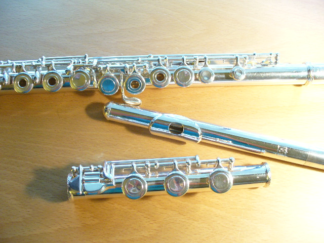 Picture of flute - Trevor James Virtuoso- Sterling silver flute