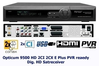 Picture of electronic instrument - Opticum 9500HD/globo 9500HD satellite reciever