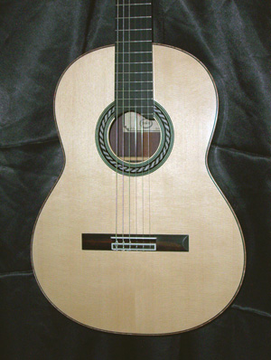 Picture of acoustic guitar - 2010 Peter Oberg Classical Guitar SOLD 10-8-10