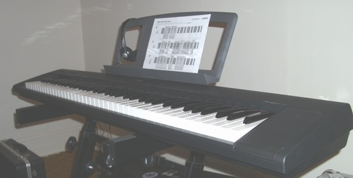 electronic keyboard instrument for sale beautiful like brand new yamaha np30 portable grand. Black Bedroom Furniture Sets. Home Design Ideas