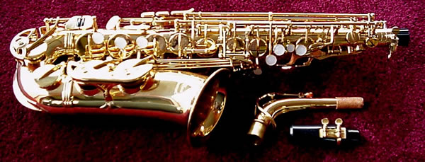 Picture of saxophone - Glenn Edward Selmer-style Alto Sax with Selmer mouthpiece & Yamaha sax care