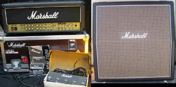 Picture of amplifier - Marshall TSL 100 all-tube head and Marshall 1960AX 4x12 Cab (half stack)