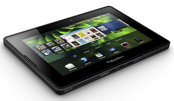 Picture of electronic instrument - BlackBerry Slider 9800 and Blackberry Playbook Tablet