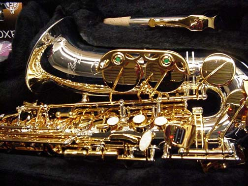 Picture of saxophone - New Selmer silver & gold alto sax #LTDA1SG W/Paris mpce