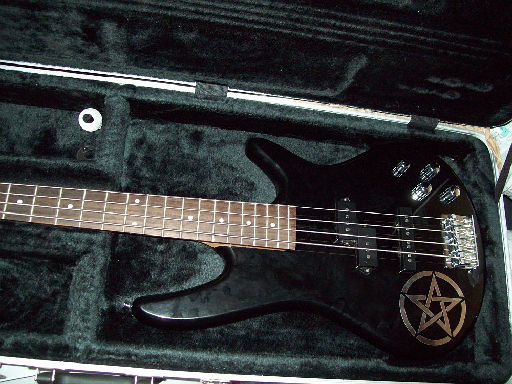 Picture of bass guitar - Ibanez bass/w case in amazing condition.