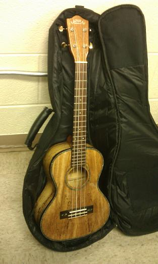 LANIKAI MODEL SM-T SPALTED MANGO TENOR SIZE UKULELE W/SOFT CASE!