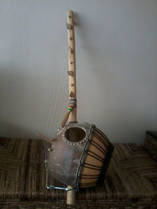 Picture of ethnic instrument - Custom Made Kamel Ngoni - 8 String Hunters Harp - West African Instrument