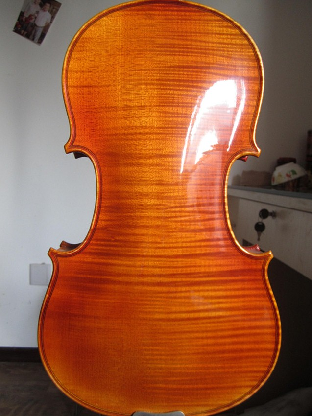 Picture of violin - Orange-brown colored Violin with European Wood