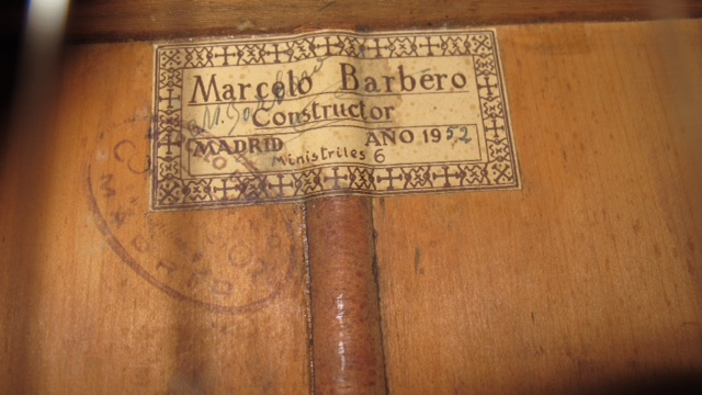 Picture of acoustic guitar - 1952 Marcelo Barbero Flamenco guitar