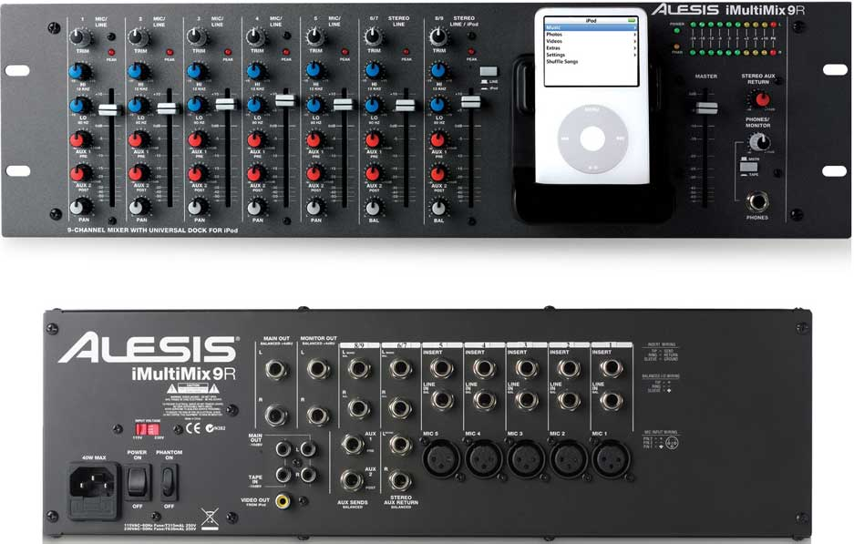 Picture of mixer - Alesis I MULTIMIX 9R Rack-Mounted Mixer