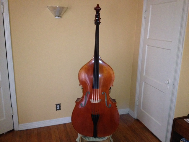 Picture of double bass (contrabass) - Vivo Fully Carved Flat Back Bass/Beautiful