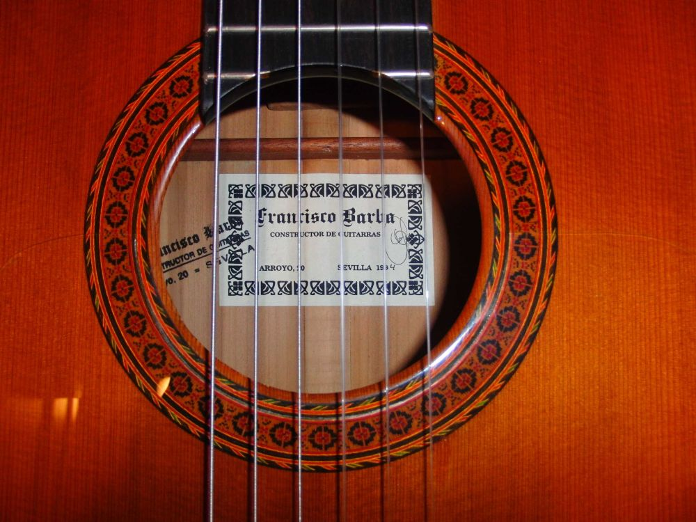 Picture of acoustic guitar - FRANCISCO BARBA FLAMENCO GUITAR