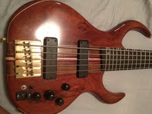 Picture of bass guitar - Custom Five String Bass for sale