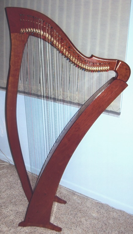 Picture of harp - 38 string Heartland DragonHeart harp