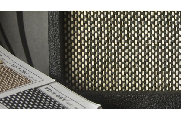 Picture of amplifier - KLDguitar speaker grill fabric of guitar and bass amp cabinet black/whit/sliver