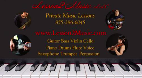 Picture of musician service - MUSIC LESSONS ONLINE with Lesson2Music.com